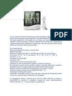 Termohigrometro Htc 2