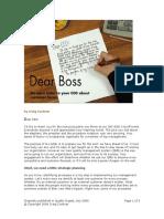 Dear CEO by Craig Cochran (Quality Digest July2006)