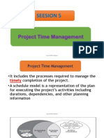 5. Project Time Management