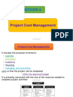 6. Project Cost Management