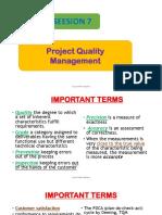 7. Project Quality Management