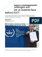 What Challenges Will Complaint vs. Duterte Face Before the ICC