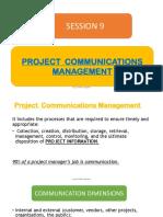 9. Project Communications Management
