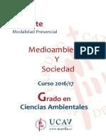 Ambiente y Sociedad - Programa España