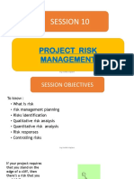 10. Project Risk Management
