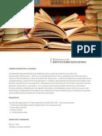 Bibliotecario de Instituciones Educativas