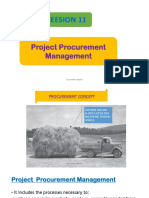11. Project Procurment Management