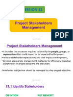 12. Project Stakeholders Management