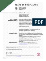 UL Certificate of Compliance MK6s 05-02-16