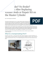 Breaking System Problems (Master Cylinder Repair Kit)