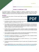 Terminos y Condiciones v.club Anual