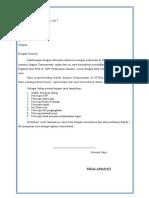 Surat Lamaran Pekerjaan Rizal