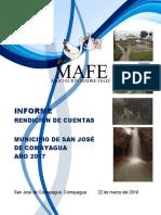 Informe Final de Rendición de Cuentas MAFE San José 2017