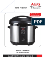 Hip Electrolux Pressure Cooker Manual(14568-001)