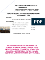 Planificacion y Logistica de Proyectos