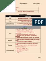 tobey miner - lecture notes unit 5 lesson 5 - 7th grade - mesoamerica nicoll