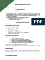 INFORME General de Mantencion WOM 2017