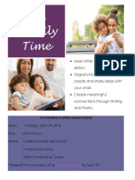 ELL Family Meeting Flyer