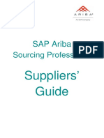 SAP Ariba Sourcing Professional Suppliers Guide - March 2017