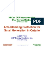 3.1 - Anti-Islanding Protection for Small Generation in Ontario - Aidan Foss