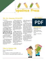 newsletter 3-23-18