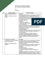 Documento de Sistematización Pedagógica