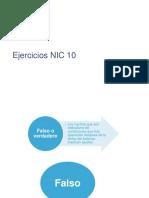 Ejercicios NIC 10