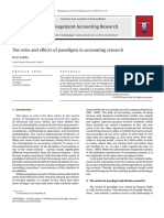 The Roles and Effects of Paradigms in Accounting Research