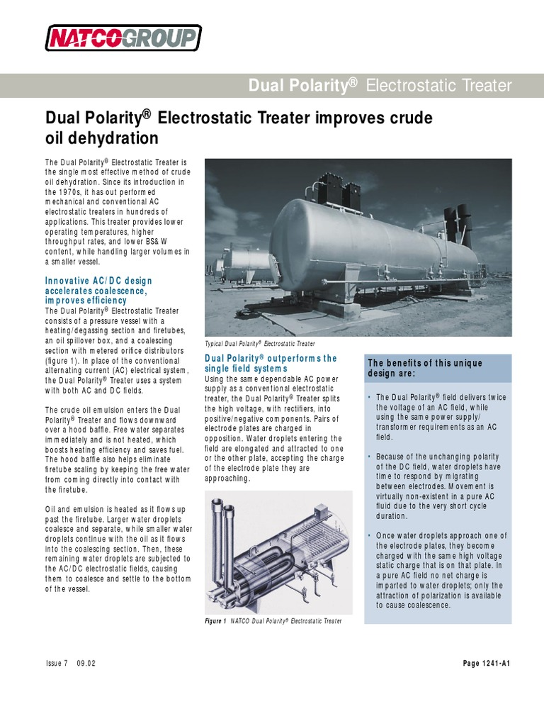 Dual Polarity Electrostatic Treater Alternating Current Electric This Kind Of Electricity Is Known As Ac Figure Charge