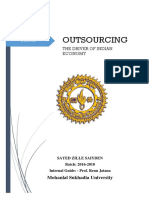 Outsourcing the Driver of Indian Economy
