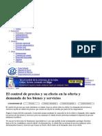 El Control de Precios y Su Efecto en La Oferta y Demanda de Los Bienes y Servicios _ Gerencie