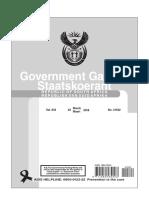 State Capture Regulations Amendment