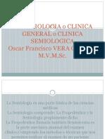 La Semiologia o Clinica General o Clinica Semiologica