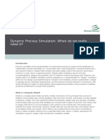 Dynamic Process Simulation When Do We Really Need It