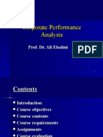Corporate Performance Analysis