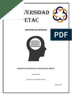 Concepto Filosófico de a La Educación en México