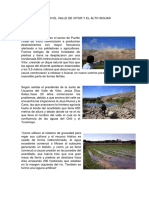 Deslizamientos en El Vvalle de Vitor y El Alto Siguas