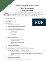 DVHHS Jan. 11 Agenda