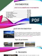 factores que afecta el diseño de un pavimento