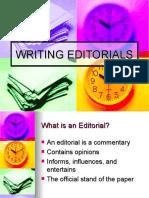 Writing Editorials!!!