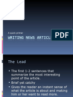 Writing News Articles