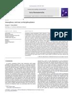 Dorozhkin REVIEW Amorphous Calcium (Ortho)Phosphates