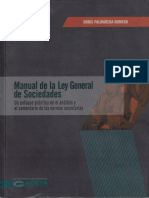 Manual de La Ley General de Sociedades