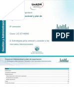 2. Estrategias Para Conocer y Acceder a Los MERCADOS Internacionales