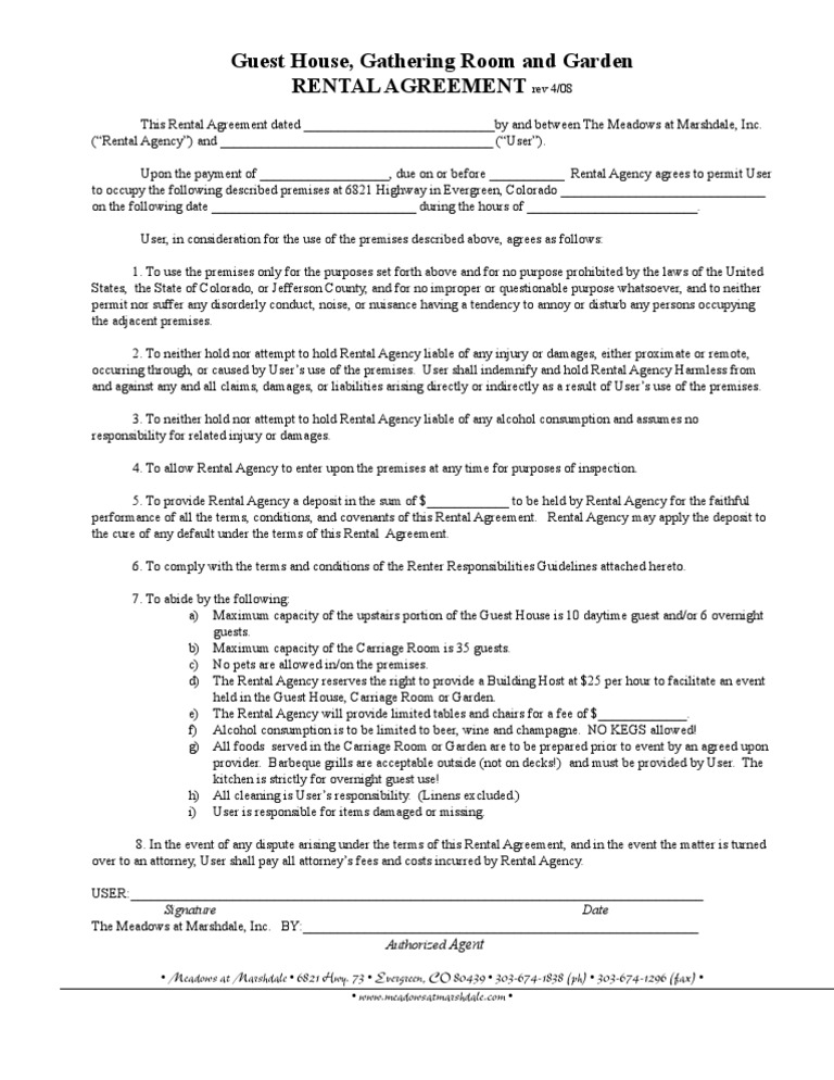 Printable Residential Free House Lease Agreement | Here Is Ahouse