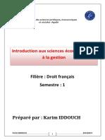 Introduction Aux Sciences Conomiques Et La Gestion