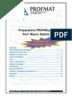 Preparatório PROFMAT 2019