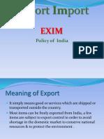 IB -- Import Export