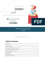 Sales Content Roi Benchmark