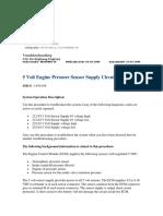 5 Volt Engine Pressure Sensor Supply Circuit - Test